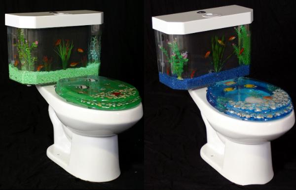 Аквариум туалет
