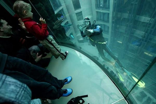 Аквадом. Вид из лифта