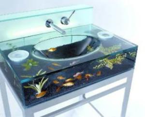 аквариум умывальник