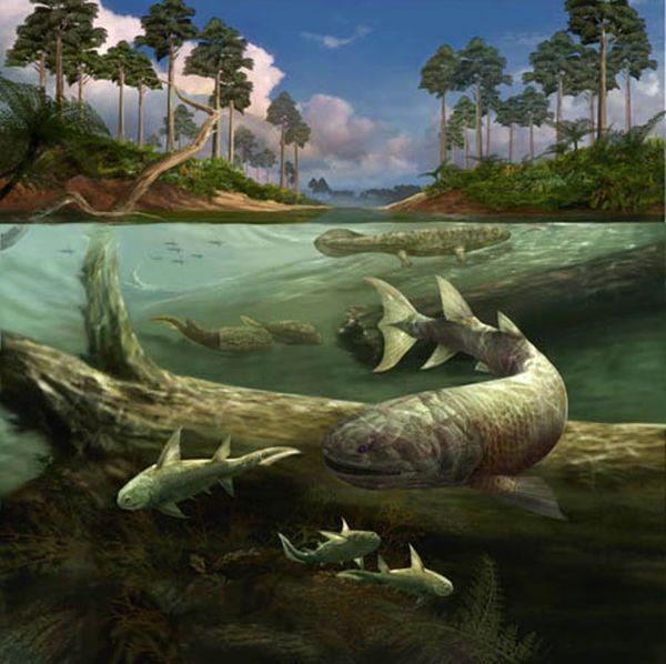 Эпоха рыб-Девон, реконструкция